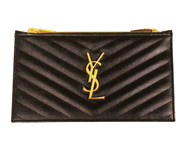 15.Saint-Laurent-Monogramme-Double-Zip-Wallet-in-Black-$1175