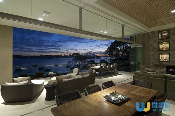 Living-Room-Terrace-Bay-Views-Waterfront-Home-in-Vaucluse-Sydney