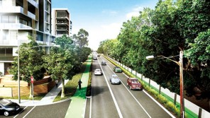 1-A-NSW-government-artist's-impression-of-a-proposed-development-scheme-near-Parramatta-Road,-Burwood,-where-land-values-have-surged.